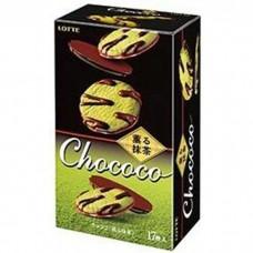 """Шоколадный бисквит с зелёным чаем Матча """"Chococo Biscuit Green Tea""""."""