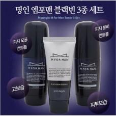 Набор для мужчин Myungin M For Men Black Bean Set (тоник, эмульсия и эссенция)