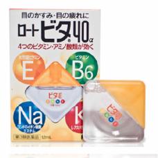 Rohto Vita 40. Глазные капли с витаминами укрепляющие 12 мл. Индекс свежести 3