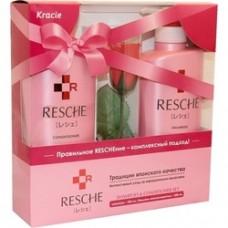 """Набор Resche""""Resche Damage Care System """" шампунь, бальзам-ополоскиватель, мыло цветочное роза (Япония)"""