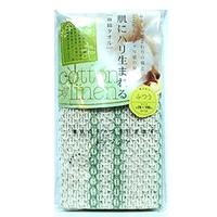 Aisen Cotton & Linen Мягкая массажная мочалка из хлопка и льна (кремовый цвет) 26х100 см.