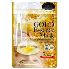 Маска для лица GOLD Essence с экстрактом золота / JAPAN GALS / 7 шт.