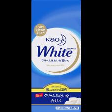 Крем-Мыло кусковое KAO White Normal с ароматом белых цветов в коробке 6шт х 85гр