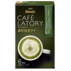 РАСТВОРИМЫЙ ЛАТТЕ С ЗЕЛЕНЫМ ЧАЕМ CAFE LATORY AGF, ЯПОНИЯ, 72 Г (12 Г * 6 ШТ.)